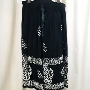 Relatively Black/White  Boho Skirt